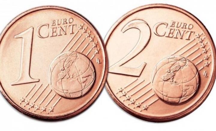 Monete da 1 e 2 centesimi: addio definitivo da gennaio