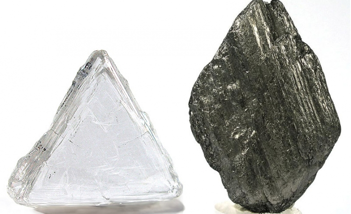 Diamond and graphite without structures