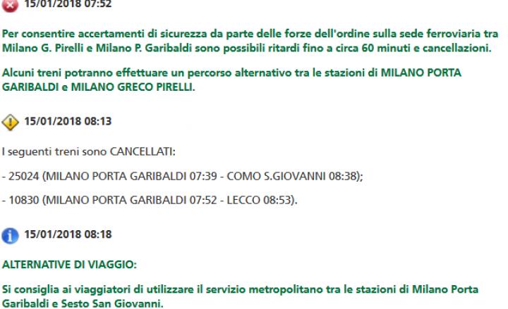 2 morti investiti da treni in Lombardia