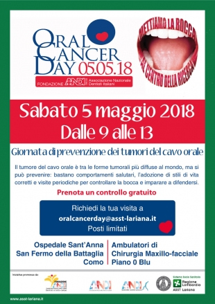 locandina oral cancer day